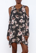 Blu Pepper Floral Grey Dress