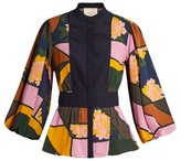 Roksanda Floral-print Elcet silk-chiffon blouse
