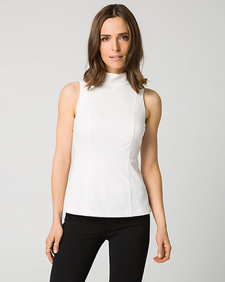 Le Château Ponte Mock Neck Peplum Top