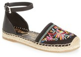 Sam Edelman Women's Jemmie Peacock Embroidered Espadrille