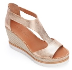 Gentle Souls by Kenneth Cole Elyssa Easy T-Strap Wedge Sandals Women's Shoes