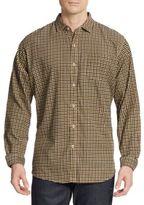 Saks Fifth Avenue Regular-Fit Micro Check Cotton Sportshirt