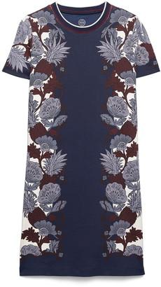 Tory Burch Tropical Print Pima Cotton T-Shirt Dress