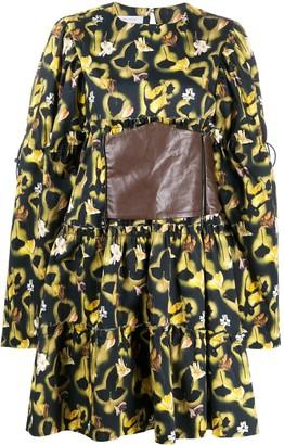 Delada Waist-Panel Floral Print Dress