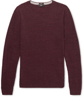 HUGO BOSS Nelino Mélange Cotton Sweater - Burgundy