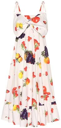 MSGM Printed cotton midi dress