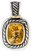 David Yurman Two-Tone Citrine Albion Pendant Enhancer