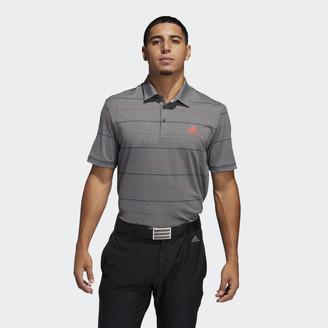 adidas Ultimate365 Heathered Stripe Polo Shirt