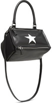 Givenchy Pandora Small Printed Leather Shoulder Bag - Black