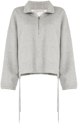 James Perse Half-Zip Sweatshirt