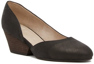Eileen Fisher Lily Half d'Orsay Wedge Leather Pump