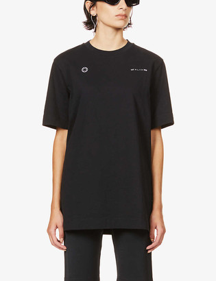 Alyx Double Logo-print cotton-jersey T-shirt