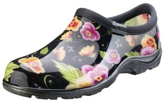 Principle Plastics Sloggers Women's Rain & Garden Shoes - Black Pansy Print