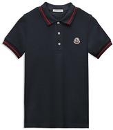Moncler Boys' Color Tipped Pique Polo Shirt - Sizes 8-14