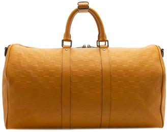 Louis Vuitton Yellow Damier Infini Canvas Keepall 45 Bandouliere