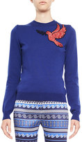 Mary Katrantzou Dove-Embroidered Knit Sweater