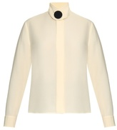 Balenciaga Button-front silk-cady blouse