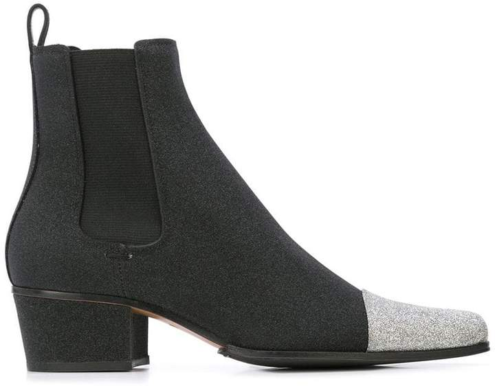 Balmain block heel ankle boots