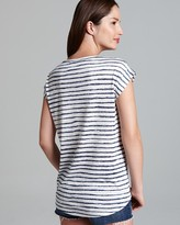 Vince Camuto Two by Painted Stripe Burnout Tee