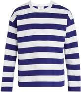 Ami Striped crew-neck cotton sweatshirt