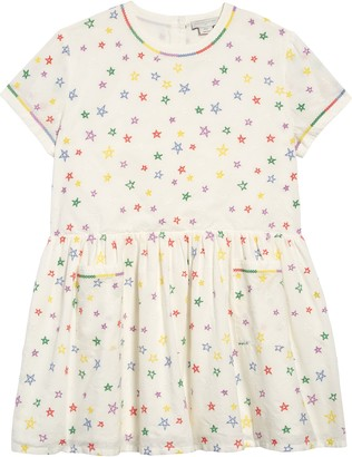 Stella McCartney Star Embroidered Organic Cotton Dress