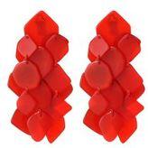 Scarlet Cascade Earrings