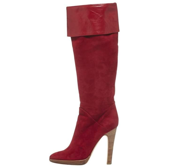 Giuseppe Zanotti Red Leather Boots