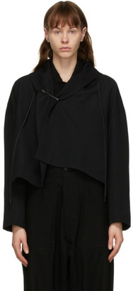 Regulation Yohji Yamamoto Black Wool R-Square Jacket