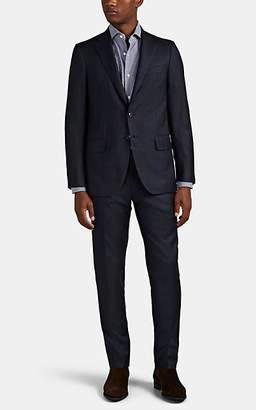 Isaia Men's Sanita Plaid Wool Two-Button Suit - Blue Pat.