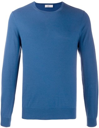 Closed Crew Neck Long-Sleeved Jumper