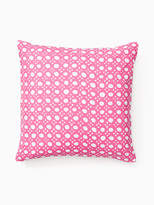 Kate Spade Palm fronds caning pillow