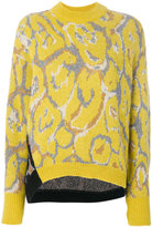 Nude two-tone patterned sweater - women - Acrylic/Polyamide/Viscose/Metallic Fibre - 40