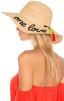 Hat Attack One Love Sunhat in Tan.