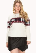 Forever 21 Shaggy Fair Isle Sweater