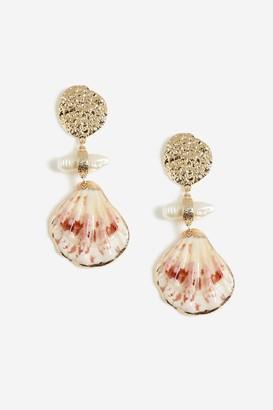 Topshop Shell Drop Earrings