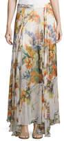 Haute Hippie Chance Floral-Print Silk Maxi Skirt, Multi