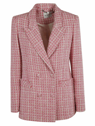 Be Blumarine Woven Double-breasted Blazer
