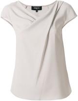 Paule Ka draped neckline blouse