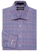 Saks Fifth Avenue BLACK Slim-Fit Plaid Cotton Dress Shirt
