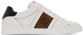 Fendi White Leather Forever Sneakers