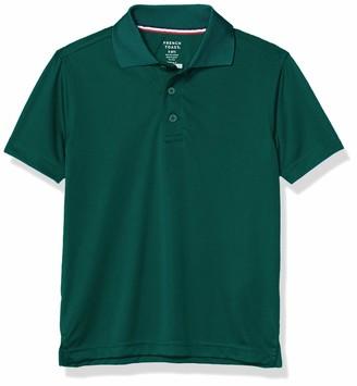 French Toast Boys' Short Sleeve Moisture Wicking Stretch Sport Polo Shirt