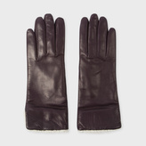 Paul Smith Women's Purple Lamb Leather Cashmere Lined Gloves