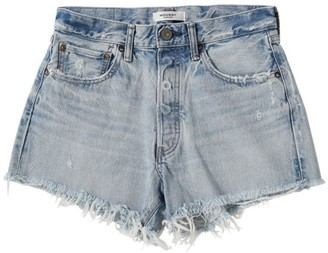Moussy MV Mathews Frayed Hem Denim Shorts
