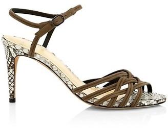 Alexandre Birman Berthe Python & Leather Sandals