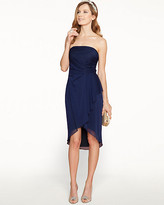 Le Château Sheer Overlay Strapless Cocktail Dress