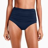 J.Crew High-waisted ruched bikini bottom