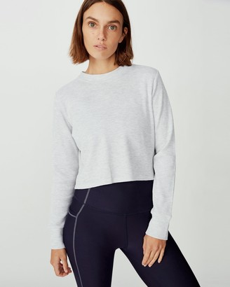 Cotton On Body Active Long Sleeve Cross Back Waffle Top