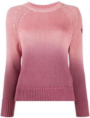 Moncler Logo Patch Ombre Jumper