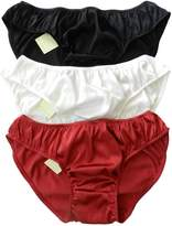 Panasilk Men's 100% Silk Bikini Underwear Briefs 3 Pairs in One Economic Pack (XXL, )