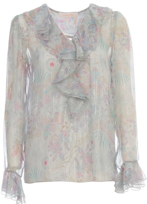 See by Chloe Sweater L/s V Neck W/lace On Sleeve